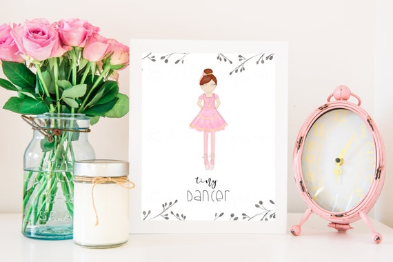Tiny Dancer, Tiny Dancer Art, Ballerina, Ballerina Decor, Ballet Decor, Ballet Art, Ballet Dancer, Dancer Artwork, Ballet Gift, Dance Gift