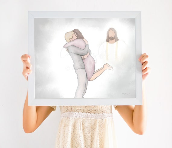First Day In Heaven Painting, Picture Jesus, Jesus Picture, Jesus Portrait, Celebration of LIfe, First Moments In Heaven, Jesus Watercolor