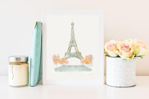 Eiffel Tower, Drawing, Eiffel Tower Print, Eiffel Tower Decor, Eiffel Tower Art, Paris Eiffel Tower, Paris, Eiffel Tower Artwork, Printable