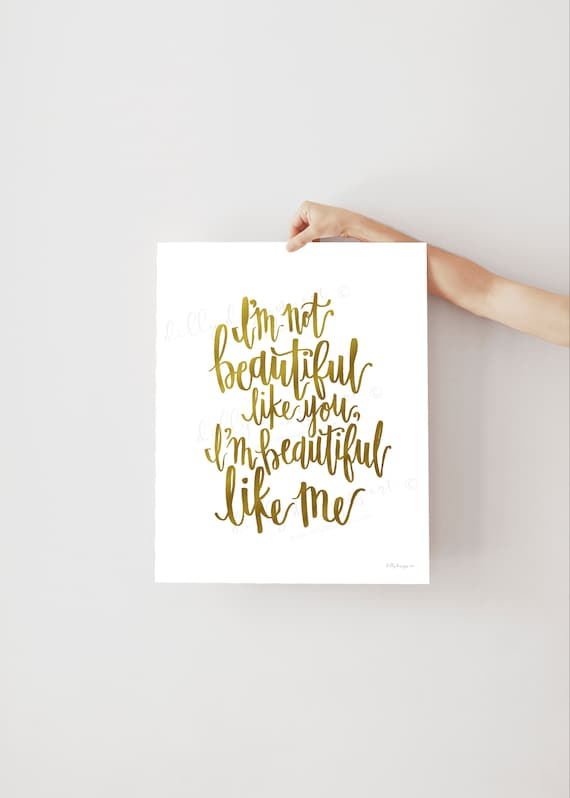 Beautiful Quote, Calligraphy, Beautiful Like Me, Beauty Quote, Inspiring Quote, Inspirational Quote, Motivational Quote, Young Womens, LDS