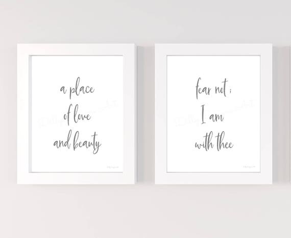 A Place of Love and Beauty, Fear Not I With Thee, Printable, Bundle, Hymn, Wall Sign, Printable Sign, Wall Signs, Home Signs, Printable Art