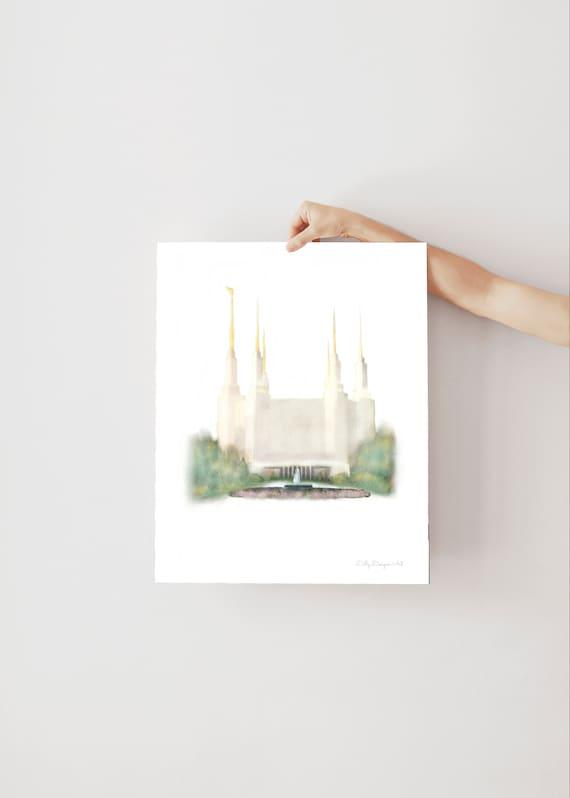 Washington DC Temple, DC Temple, DC Lds Temple, Washington Temple, Dc Temple Wall Art, Dc Temple Print, Washington Dc Print, Lds, Washington
