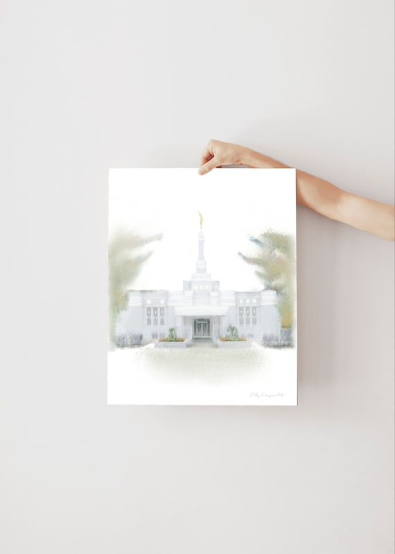 Columbia South Carolina, Columbia Temple, LDS Temple Art, Church of Jesus Christ, Temple Paintings, Digital Painting, Temple Gift, Artwork
