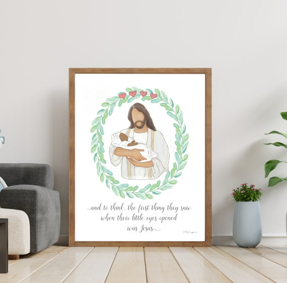 Black Baby and Christ, 4 Miscarriages, Baby Losses, Christ and Baby. Baby and Jesus, Jesus and Baby, Christ Holding Baby, Jesus Holding Baby