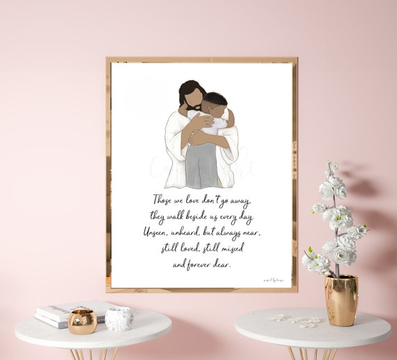 Those We Love Don't Go Away, Memorial Quote, Funeral Art, Sympathy Art, Remembrance Gift, Funeral Gift, Memorial Gift, Condolence Art, Loss