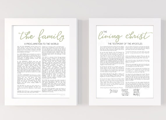 The Family, Proclamation, Family Proclamation, Living Christ, The Family Proclamation, The Living Christ, Proclamation Art, LDS Sign, Sage