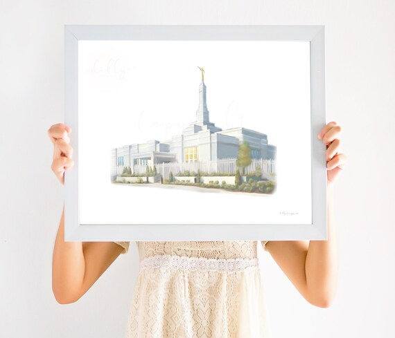 Louiseville Kentucky Temple, Lousieville Temple, Kentucky Temple, Lousieville Temple Art, Temple Painting, Temple Artwork, Temple Wall Art