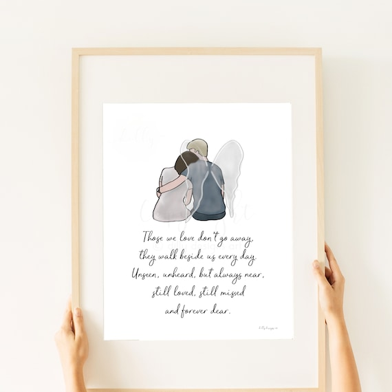 Memorial Gift, Memorial Quote, Artwork, Printable Artwork, Husband Death, Husband Loss, Gift For Grieving, Grief Gift, Sympathy Gift, Memory
