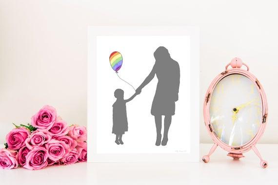 Printable, Rainbow Baby, Rainbow Baby Gift, Rainbow Baby Printable, Rainbow Baby Nursery, Rainbow Baby Artwork, Rainbow Print, Decor, Poster