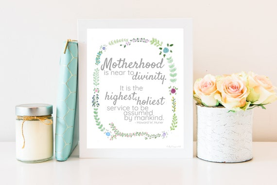 Relief Society, Young Womens, Visiting Teaching, LDS Wall Art, Motherhood, Mother's Day Gift , LDS, LDS Printables, Lds Printable, Lds Art