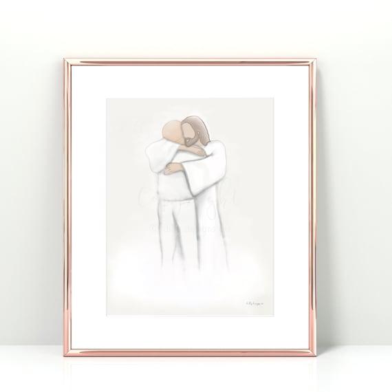 Funeral Artwork, In Loving Memory, Memorial Art, Thoughtful Gifts For Funeral, Parent Loss, Grandparent Loss, Grandpa In Heaven, Unique Art