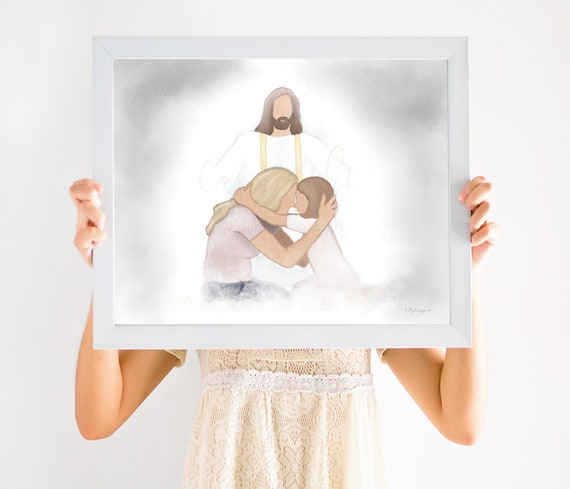 Christ Painting, Memorial Artwork, Religious Artwork, Religious Gift, Religious Decor, Memorial Decor, Keepsake Gift, Gift For Grieving