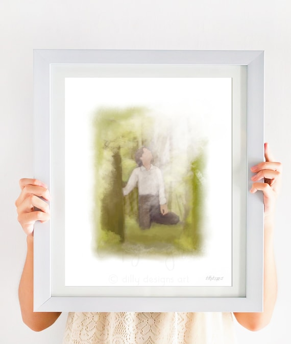 LDS Art, Sacred Grove, LDS Printable, LDS Printable Art, Lds Wall Art, Christ Art, Lds Decor, Lds Prints, Lds Gift, Joseph Smith, Christ