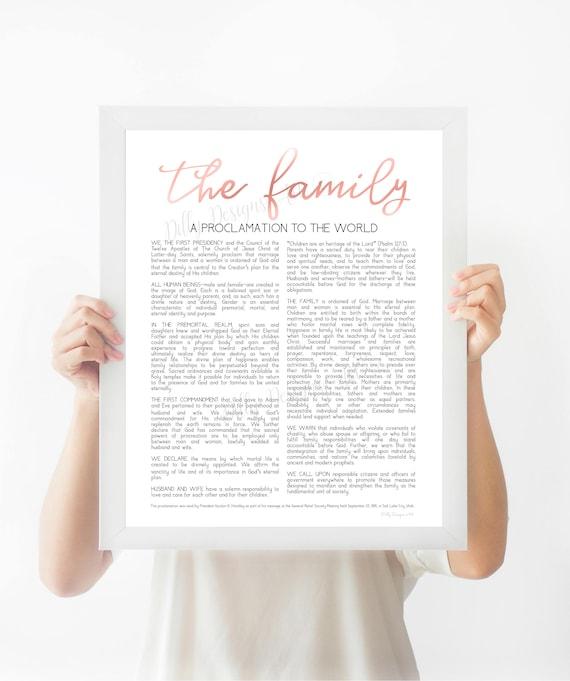 Family Proclamation, The Family Proclamation, Proclamation, LDS Proclamation, Family, The Family, Modern Proclamation, Proclamation Sign