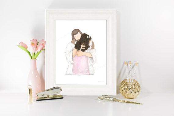 Church Paintings, Christian Painting, Digital Artwork, Instant Download, JPG Files, Little Girl With Christ, Girl With Jesus, Jesus Christ
