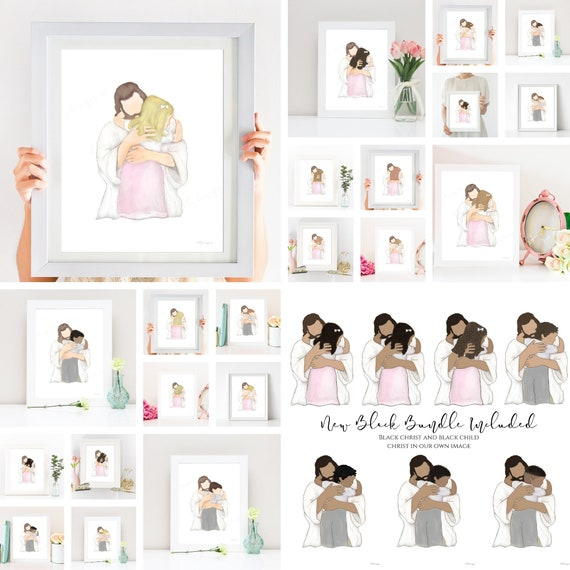 Christ and Child Bundle, 34 Variations, Primary Gift, LDS Primary, LDS Primary Gift, Primary Gift Idea, LDS Baptism Gift, Baptism Gift Idea