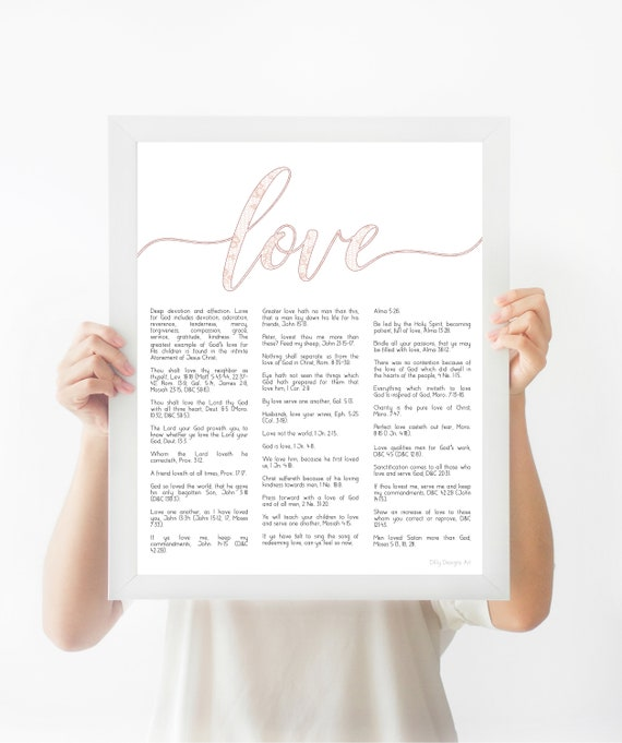 Scripture Wall Art, Lace, Love Verses, LDS Scriptures, Printable Art, Bible Verse, Book of Mormon, Scripture Art, Scripture, LDS, LDS Art
