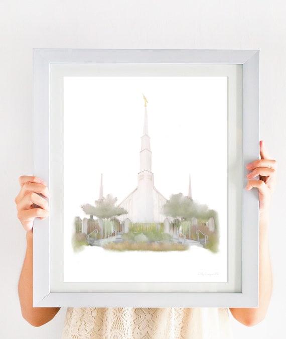Boise Idaho Temple, LDS Temple Painting, Digital Art, Boise Temple, Idaho Temple, Temple Printable, Temple Art, Temple Gift, Temple Sealing