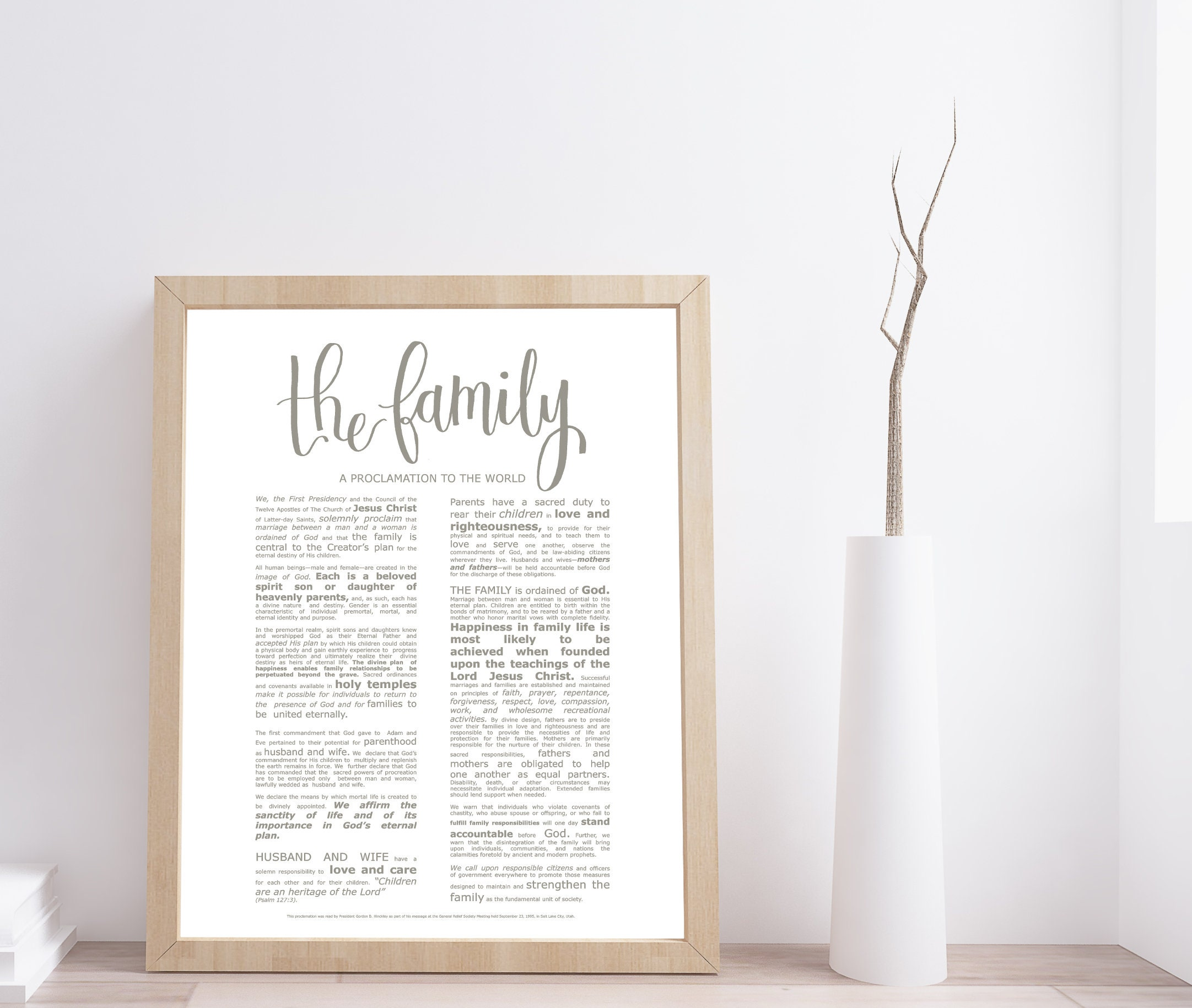 picture about The Family a Proclamation to the World Printable identified as Relatives Proclamation, Ground breaking Emphasised, Progressive LDS Printable