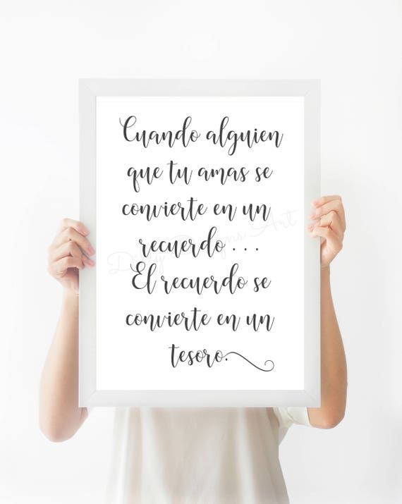 Printable, Religious Wall Art, Christian Quote, Memorial, Spanish, Memorial Gift, Bereavement, Inspirational Quote, Christian Art, In Memory