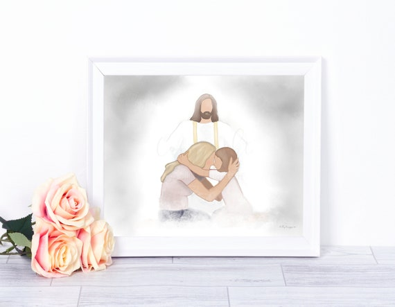 LDS Art, Christ Painting, LDS Printable, LDS Printable Art, Lds Wall Art, Mormon Art, Lds Decor, Lds Prints, Lds Gift, Lds Memorial, Christ,