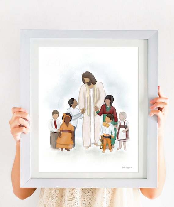 He Loves All Children, Children Around The World, Different Nationalities, Different Ethnicities, Church Art, Christian Art, Church of Jesus