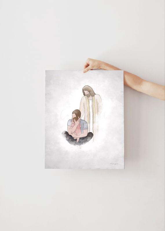 Dad Holding Baby, Greeting In Heaven, In Loving Memory, Angels In Heaven, Bereavement Art, Husband Memorial, Baby Memorial, Dad Memorial,Man