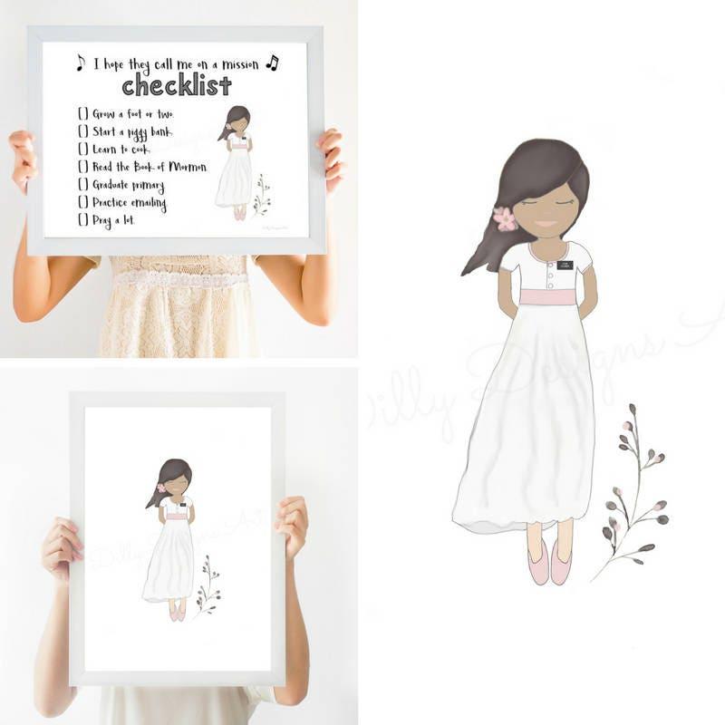 Mormon Art, Mormon Baptism Gift, Mormon Primary, Great to be 8, Lds ...