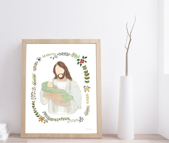 Christ Holding Infant, Jesus Holding Baby, Jesus Holding Infant, Christ Holding Baby, Baby and Christ, Christ and Baby, Infant and Christ