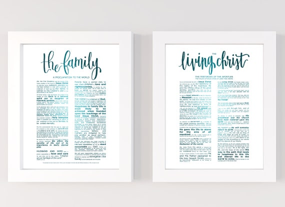 Family Proclamation, Living Christ, Bundle, Modern Emphasized, Modern LDS Printable, The Family, A Proclamation To The World, Large Signs