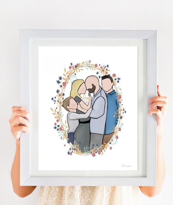 Family Art, Infant Loss, Family Portrait, Instant Download, Family Printable, Grief Printable, Hopsital Gift, Funeral Art, Bedrest, SIDS