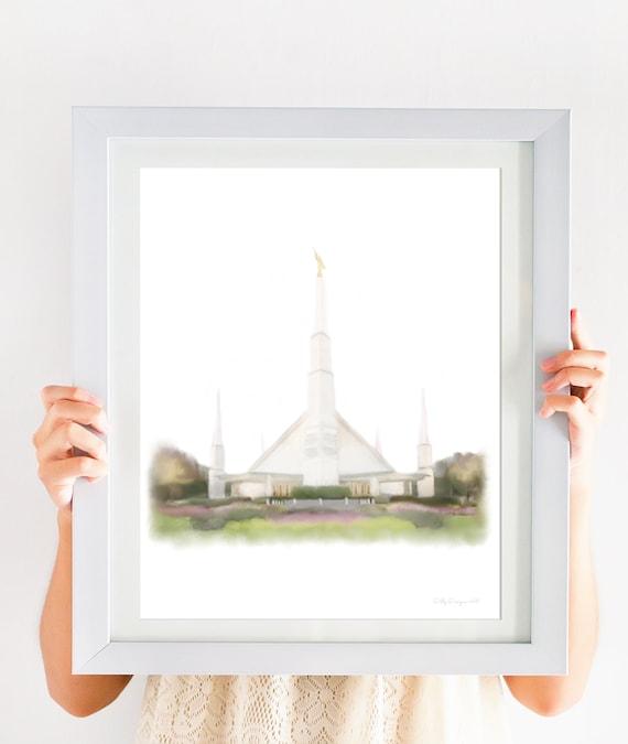 Dallas Texas Temple, LDS Temple Printable, Church of Jesus Christ, Christian Art, Dallas Temple, Texas Temple, Church Art, Temple Gift, Art