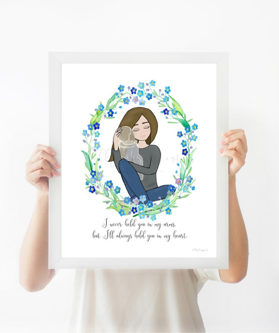 Forget Me Not, Angel Baby Gift, Angel Baby Memorial, Funeral Memorial, Memorial Gift, Baby Memorial, Grieving Mother, Gift For Grieving, Art