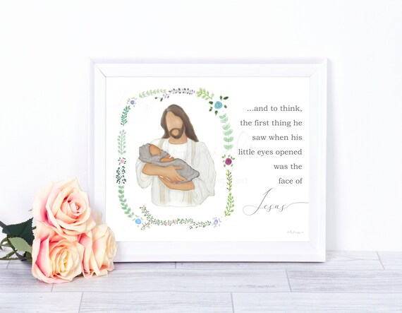 Sympathy Gift, Condolence Gift, Printable Gift, Condolence Art, Sympathy Art, Christ Art, Jesus Art, Angel Baby, Infant Baby, Angel Artwork