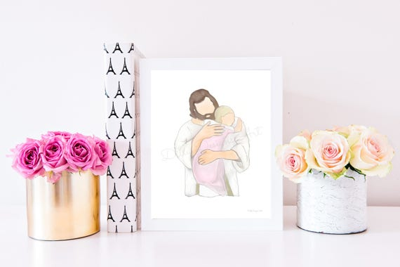 Child Loss, Christ Art, Christ, Loss of Child, Funeral, Funeral Art, Funeral Gift, Funeral Service, Child Loss Gift, Loss of Girl, Wall Art