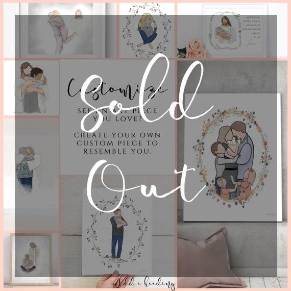 Custom, Create Your Own, Customized Art, Personalized Gift, Angel Baby, Greeting In Heaven, Faceless Art, Custom Art, Bereavement, Memorial