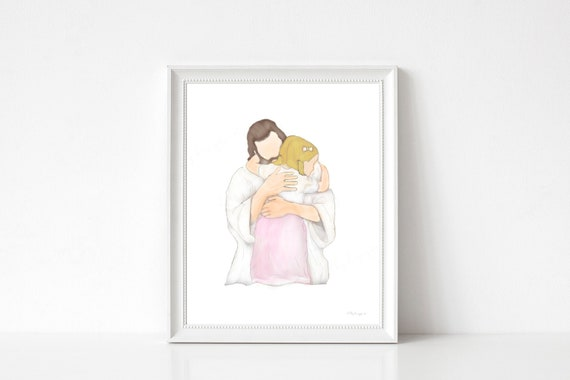 Gift For Girls Room, Girls Room Decor, Religious Decor, Christian Decor, Christ Wall Art, Christ Printable Art, Jesus Printable Art, Jesus