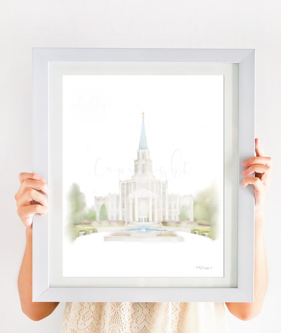 Houston Temple, LDS Houston Temple, Houston Temple Art, Houston Temple Printable, Houston Texas Temple, Temple Art, LDS Temple, Houston, lds