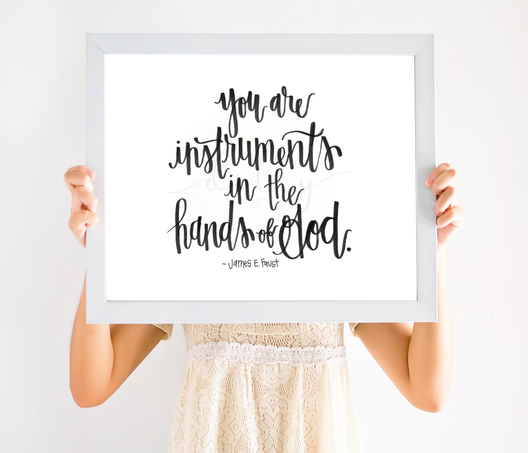 you are instruments in the hands of god calligraphy art