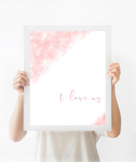 I Love Us, Wedding Gift, Anniversary Gift, I Love Us Sign, Love Sign, Wedding Sign, Gift For Her, Mothers Day, Valentines Day, Wedding, Art