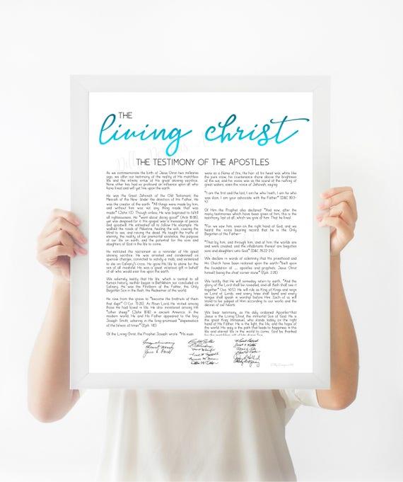 Living Christ, The Living Christ, Christ, Living Christ Sign, Living Christ Wall Art, LDS Living Christ, Living Christ LDS, LDS Printables