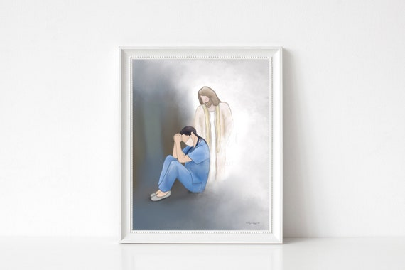 He Understands, Light Among the Darkness, Thank You Nurse, Thank You Doctor, Thank You Gift, Printable Artwork, Female Nurse, Support Gift