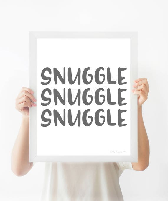 Nursery Wall Art, Nursery Art, Nursery Artwork, Nursery Decor, Nursery Printable Art, Printable Art, Snuggle, Snuggle Art, Snuggle Wall Art