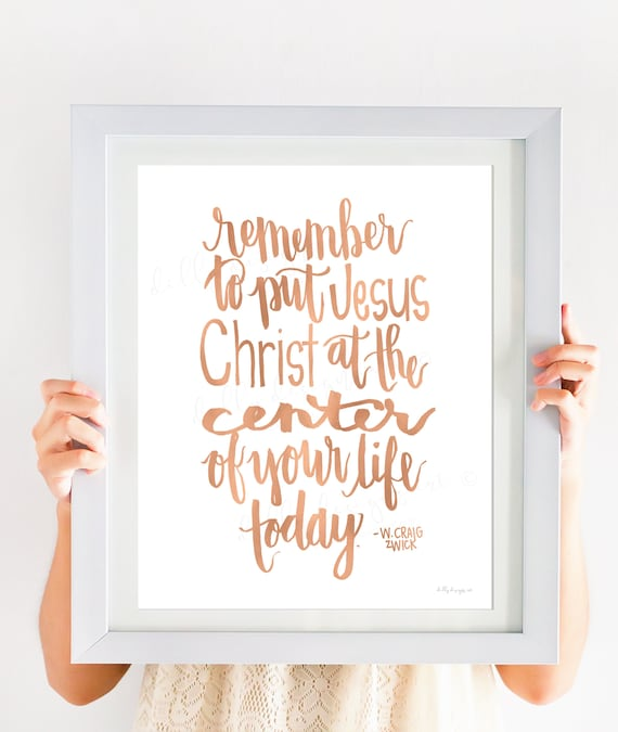 Jesus Christ, Calligraphy, Jesus, Christ, Center Of Your Life, Jesus Christ Quote, Jesus Printable, Christ Printable, Center Around Jesus