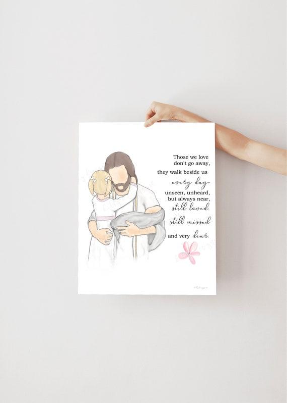Loss of Child, Christ Art, Christ, Child Loss, Funeral, Funeral Art, Funeral Gift, Funeral Service, Child Loss Gift, Infant Loss, Stillborn