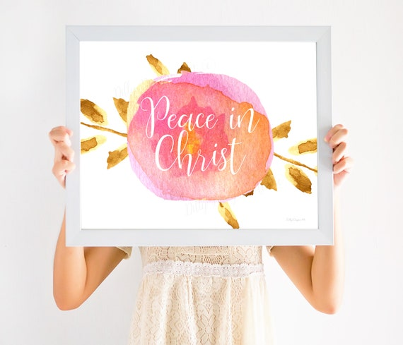 Peace In Christ, Young Women Theme, Peace, Christ, Mutual, Young Women, YW Theme, YW Theme 2018, Lds Printable, LDS Printables, Young Womens