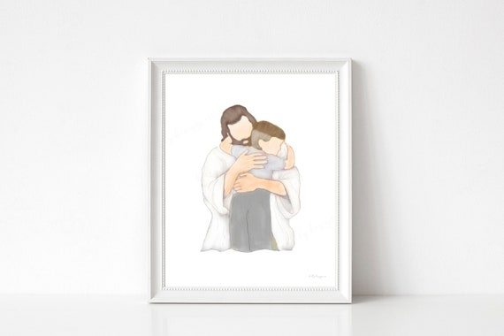 LDS Baptism, LDS Baptism Gift, LDS, Baptism, Lds Art, Primary, Lds Primary, Baptism Gift, Christ, Christ Art, Child of God, Great to be 8
