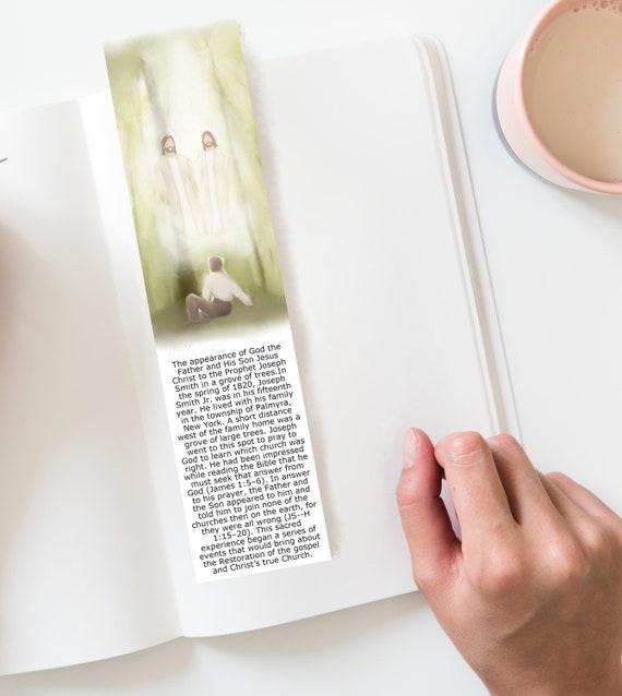 First Vision, Printable Bookmark, Sacred Grove Artwork, Painting, Digital Art, Joseph Smith, Joseph Smith History, Book of Mormon, Grove