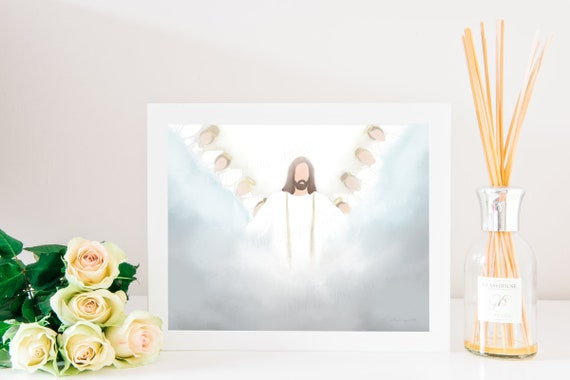 Christ, Angels, Church Art, Angels In Heaven, Art Depicting Heaven, Christian Art, Christian Artwork, Jesus, Jesus Christ, Angel, Heaven