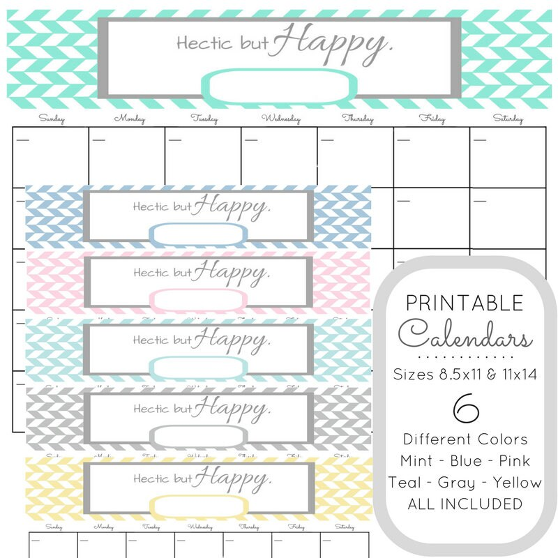 printable bundle wall calendars hectic but happy desk calendar